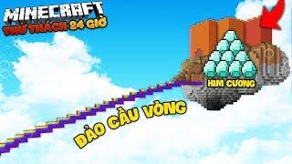 THỬ THÁCH 24 GIỜ SINH TỒN KHÁM PHÁ LÂU ĐÀI CẦU VÒNG CHỨA 1000 KIM CƯƠNG (MK Gaming Minecraft)