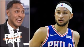76ers should consider benching Ben Simmons in the 4th quarter - Ryan Hollins | First Take