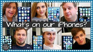 WHAT'S ON OUR iPHONES?