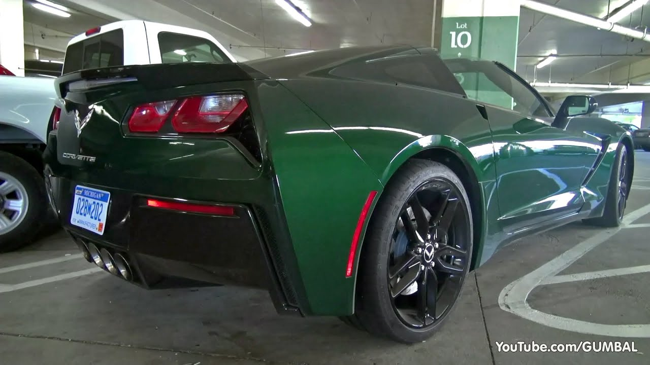 2014 Corvette C7 Stingray In Lime Rock Green Youtube