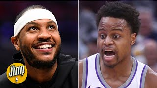 What Carmelo Anthony did to Yogi Ferrell is called 'daddy ball' - Kendrick Perkins   The Jump