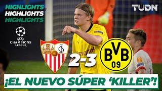 Highlights | Sevilla 2-3 Dortmund | UEFA Champions League 2021 - Octavos | TUDN