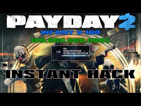 Payday 2 - Max Level Hack | Infamy V-100 & 100 Billion $