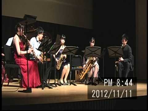 Tsukuba Saxophone Quartet - Yasuhide Ito - Ryukuan Fantasy (sax5+pf)