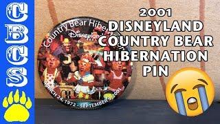 2001 Disneyland Country Bear Jamboree Hibernation Pin - Country Bear Collector Show #120
