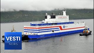 World's first floating nuclear power plant arrives in Sibe..