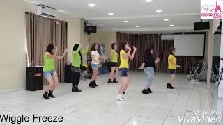Wiggle Freeze Line dance