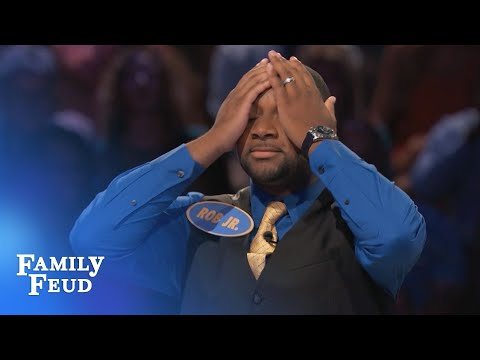 OMG. WATCH THIS FAST MONEY.   Family Feud