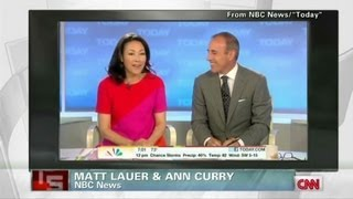 Ann Curry, off the couch on the Today Show?