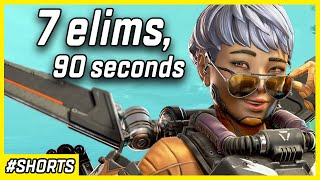 7 Elims In 90 Seconds With Valkyrie - Apex Legends Season 9 #shorts