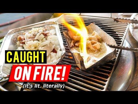 Korean Grilled Shellfish at Busan Seafood Stalls