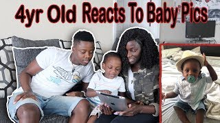 4 Yr Old Reacts To Baby Pictures