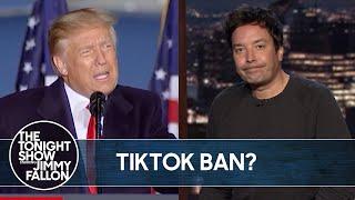 Trump Officially Bans TikTok | The Tonight Show