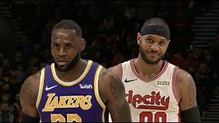 LA Lakers vs Portland Trail Blazers - 1st Half Highlights   December 6, 2019   NBA 2019-20