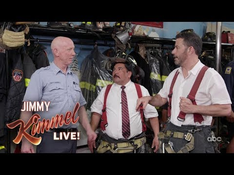 Jimmy Kimmel & Guillermo Visit a New York Firehouse