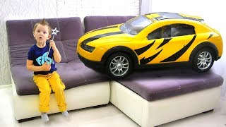 Max transformed SUPER Cars from toys and increased Vehicles for Kids