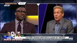 Undisputed | Skip and Shannon heated debate: Is new Oklahoma QB Jalen Hurts being disrespected?