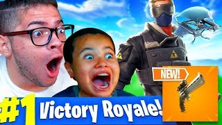 *NEW* SCOPED REVOLVER GAMEPLAY IN FORTNITE BATTLE ROYALE!! 10 YEAR OLD SQUEAKER BEATS EVERYONE!!!