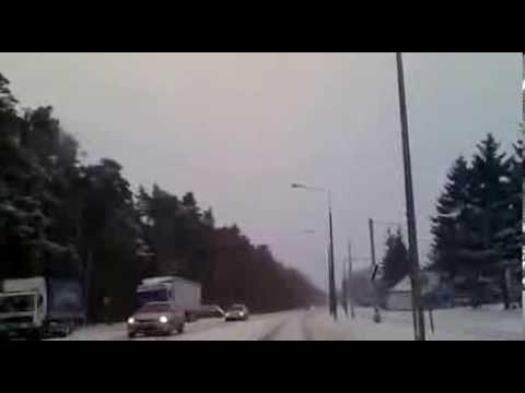 Opady śniegu w Grudziądzu