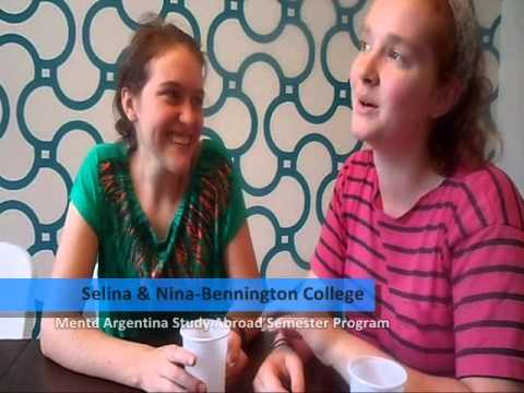 Selina and Nina, students from Bennington College -- USA, participated in the Mente Argentina Academic Semester Program 2013 -- Thank you for sharing your experience!