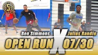 NBA open run Ben Simmons , Julius Randle, Rodney Hood and more