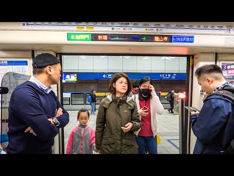Taipei, Taiwan Full MRT Metro Ride on Blue (Bannan) Line 台北捷運︱板南線(藍線)︱頂埔→南港展覽館