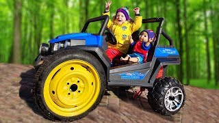 FUNNY BABY The wheel went down Ride on POWER WHEEL Tractor Fixing Wheel Paw Patrol Quad Bike