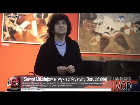 """""""Sławni Mikołajowie"""" wykład Krystyny Borucińskiej"""