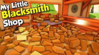 Titanium +  BUYING 350 COPPER BARS! - My Little Blacksmith Shop Gameplay Highlights