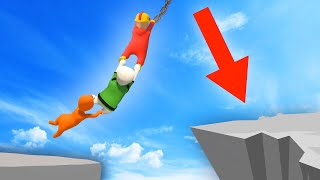EXTREME HUMAN CHAIN ISLAND JUMPS! (Human Fall Flat)