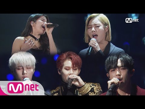 Solar, WHEEIN & JOOHEON & Kim Jae Hwan, HA SUNGWOON_EYES, NOSE, LIPS / TAEYANG│2018 MAMA FANS' CHO