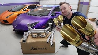 $12,000 Exhaust for my Lamborghini Aventador!!