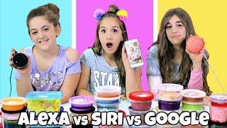 Siri vs. Google vs. Alexa Picks My Slime Ingredients!