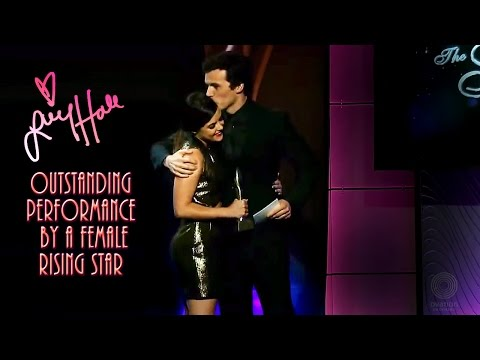 Ian Harding presents Lucy Hale at The Gracies Awards Gala ...