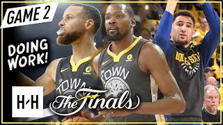 Warriors BIG 3 Full Game 2 Highlights vs Cavaliers (2018 NBA Finals) - Stephen Curry, Durant & Klay!