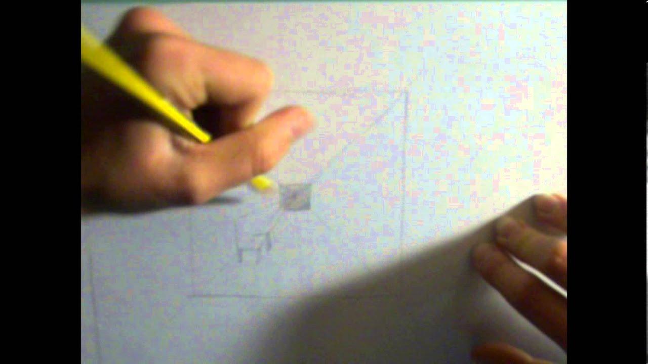 Come disegnare la prospettiva centrale - YouTube