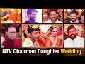Azad cracks joke, KCR & Chiranjeevi laugh at NTV Chairman daughter wedding; YS Jagan blesses couple
