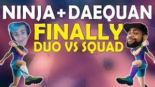 NINJA & DAEQUAN FINALLY DUO   HIGH KILL CRAZY GAME   THOUGHTS ON PATCHES - (Fortnite Battle Royale)