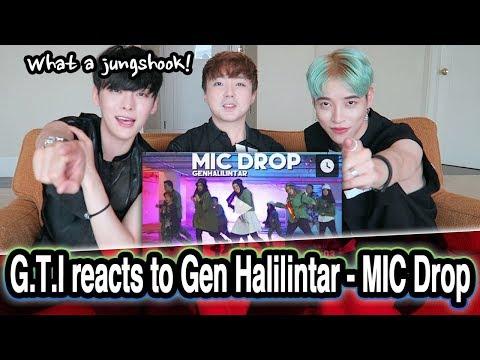 *REAKSI* Artis Korea Gen Halilintar / Korean reacts to Gen Halilintar - MIC Drop MV // 인도네시아 리액션