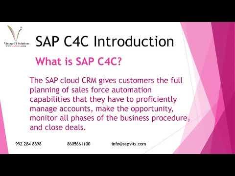SAPVITS | SAP C4C Functional Module Online Training