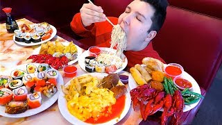 Massive American Buffet • All You Can Eat • MUKBANG