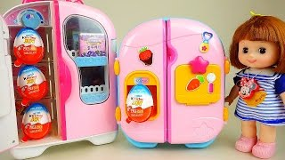Kinder Joy and Baby Doll refrigerator with Surprise eggs toys