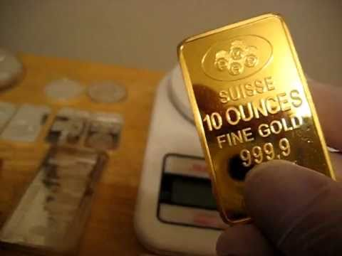 Weighing My 10 Troy Ounce Gold Suisse Pamp Youtube