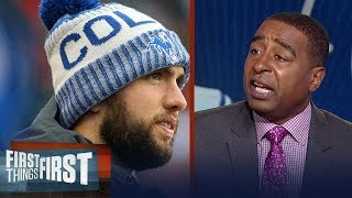 Cris Carter calls out Jim Irsay for his insulting Andrew Luck remarks | FIRST THINGS FIRST