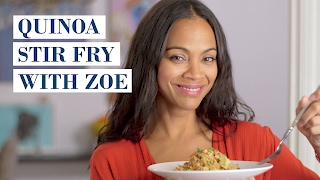 Quinoa Stir Fry with Zoe Saldana | My Family Recipe