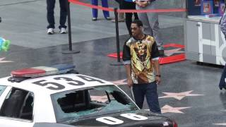 Man smashes LAPD car windows on Hollywood Boulevard