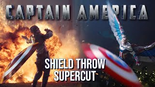 Captain America: Shield Throw Supercut (Including The Falcon and The Winter Soldier)