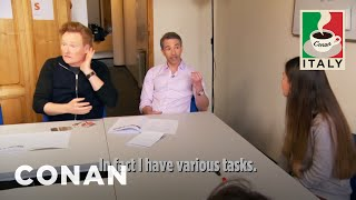 Conan & Jordan's Italian Language Lesson  - CONAN on TBS