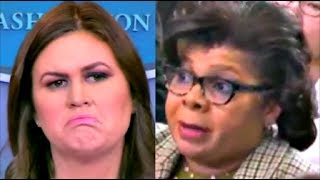 """""""thats a disgusting & ABSURD question"""" Sarah 'Huckabee' Sanders gets angry"""