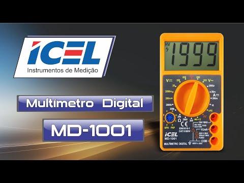 Multímetro Digital Md-1001 Icel - Vídeo explicativo